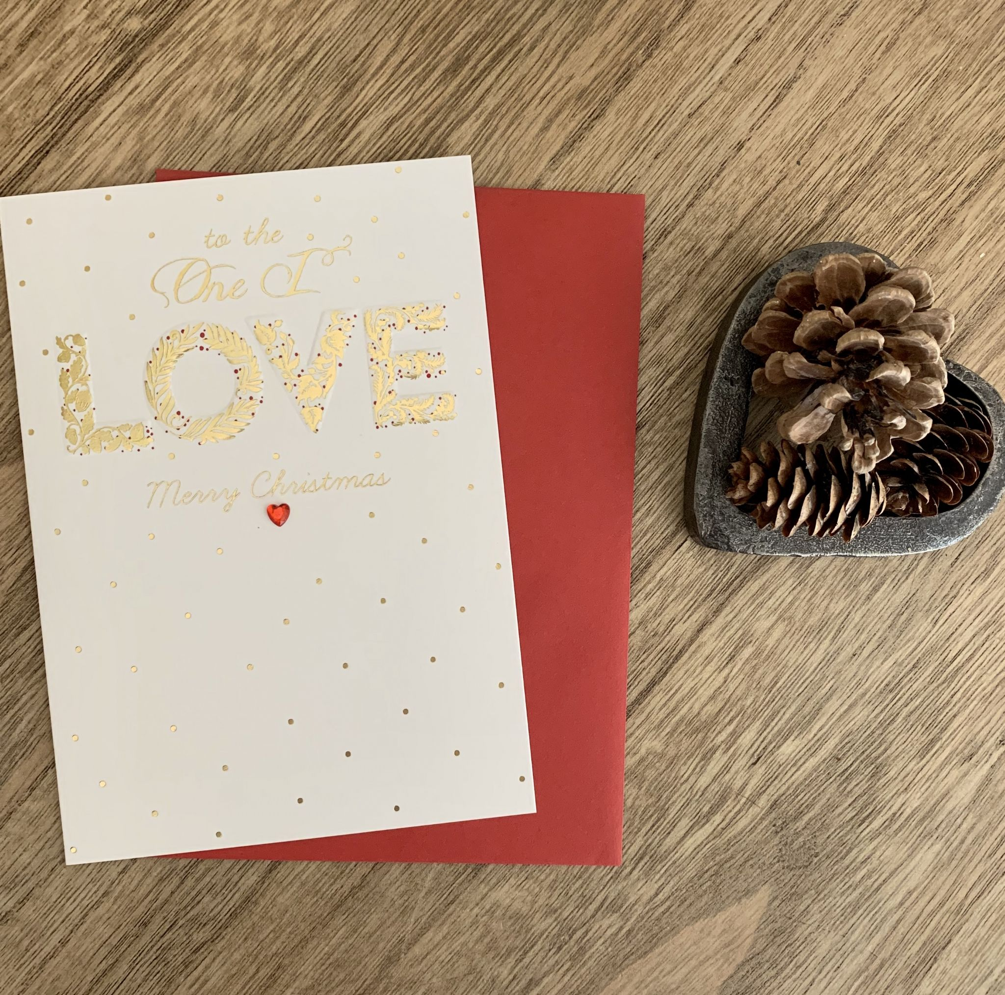 Gorgeous To The One I Love Merry Christmas Christmas Greeting Card